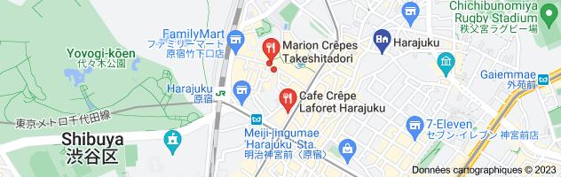 Com crepe harajuku: carte