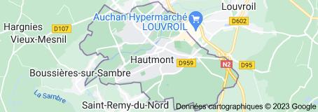 Hautmont France: carte