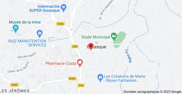 4 Avenue Emile Zola, 13850 Gréasque: carte