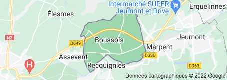 Boussois France : carte
