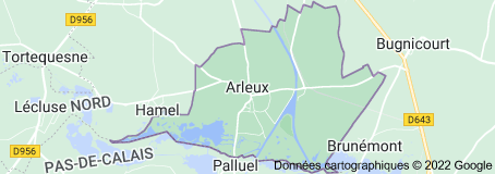 Arleux France: carte