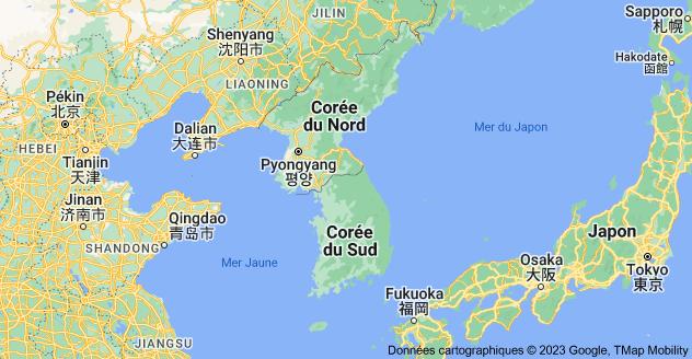 Corée: carte