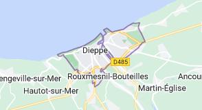 Dieppe France: carte