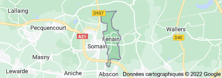 Fenain France: carte