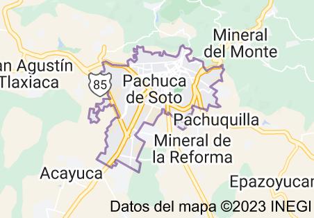 Mapa de Pachuca de Soto México