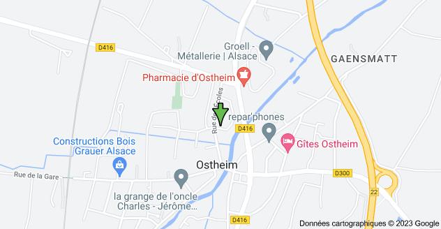 14 Rue des Géraniums, 68150 Ostheim: carte