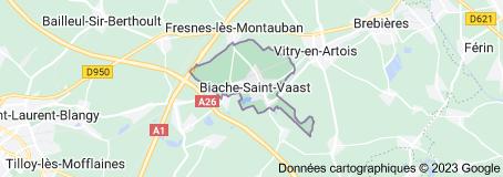 Biache-Saint-Vaast France: carte