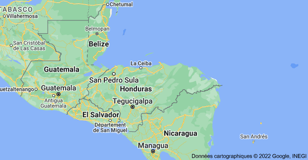 Honduras: carte