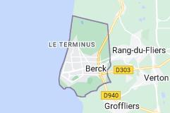 Berck France: carte