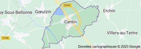 Cantin France: carte