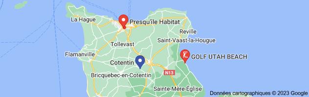 presqu'île du cotentin: carte