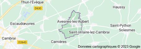 Avesnes-les-Aubert France: carte