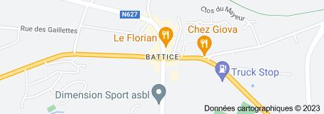 Battice Belgique: carte