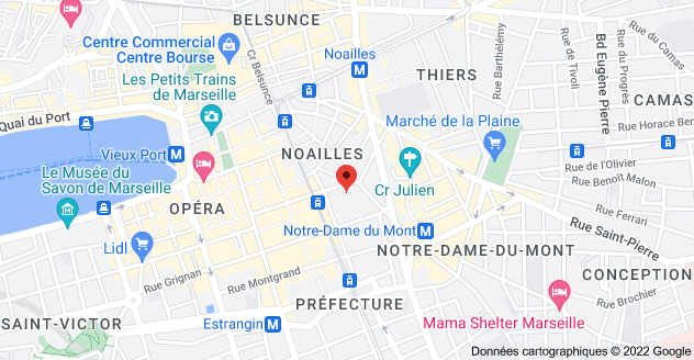 14 Rue Moustier, 13001 Marseille : carte
