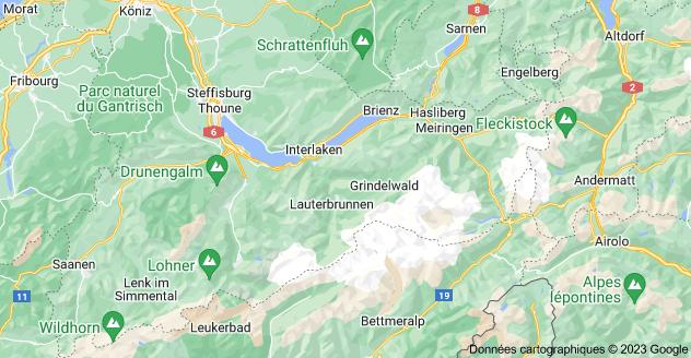 District d'Interlaken, Suisse: carte