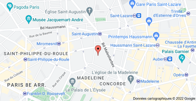 10 Rue d'Astorg, 75008 Paris: carte