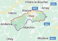 Huy Belgique: carte
