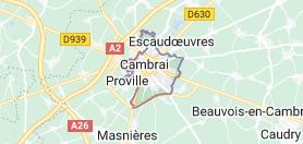 Cambrai France: carte