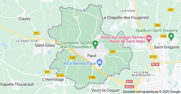 35740 Pacé: carte