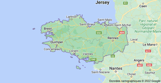 Bretagne: carte