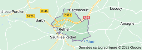 Rethel France: carte