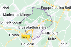 Bruay-la-Buissière France: carte