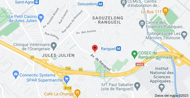 Mapa de 3 Rue Bonnat, 31400 Toulouse