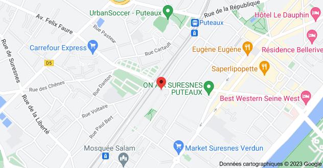 19 Allée Santos Dumont, 92150 Suresnes: carte